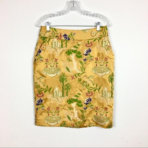 Anthropologie Dresses & Skirts - ANTHROPOLOGIE LEIFSDOTTIR GOLD PENCIL SKIRT
